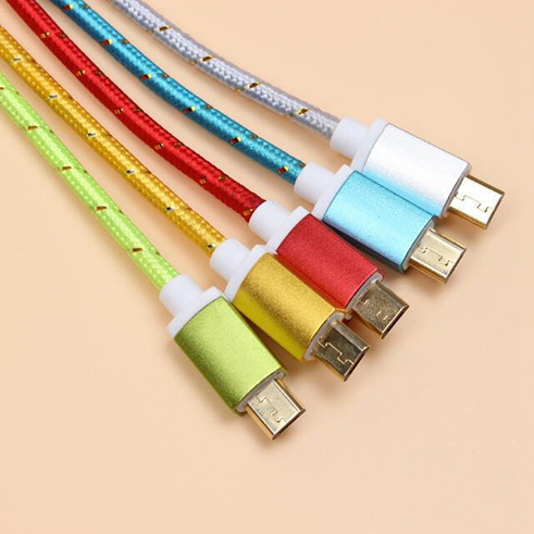 Colorful braided usb cable